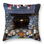 Disneyland Grand Californian Hotel Fireplace 01 Throw Pillow