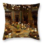 Disneyland Grand Californian Hotel Lobby 04 Throw Pillow
