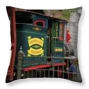 Disneyland Rr Oiling Green Engine 3 Throw Pillow