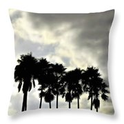 Disney's Epcot Palm Trees Throw Pillow