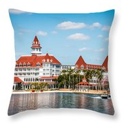 Disney's Grand Floridian Resort And Spa Throw Pillow