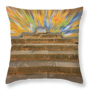 Display Hall At Apollo Sanctuary  Throw Pillow