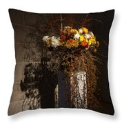 Displaying Mother Nature's Autumn Abundance Of Flowers And Colors Throw Pillow