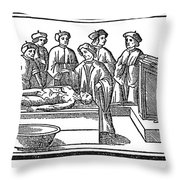 Dissection, 1535 Throw Pillow