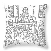 Dissection Lesson, 1493 Throw Pillow