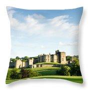 Distant Alnwick Castle Throw Pillow