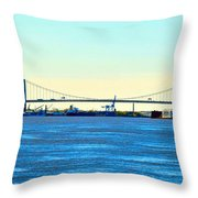 Distant Bridges Throw Pillow