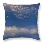 Distant Clouds Throw Pillow