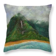 Distant Falls Throw Pillow