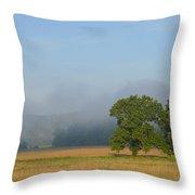 Distant Fog Throw Pillow