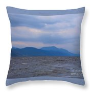 Distant Hills At Loch Ness Throw Pillow