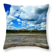 Distant Hot Springs Throw Pillow