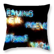 Distant Nights Throw Pillow