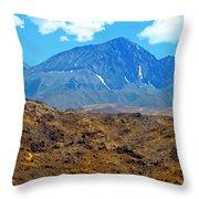 Distant Peaks Throw Pillow