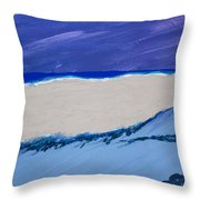 Distant Sailboat Throw Pillow by Melissa Dawn