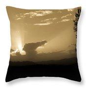 Distant Sunlight Throw Pillow