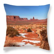 Distant Towers Throw Pillow