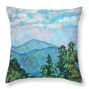 Distant View Of Peaks Of Otter Throw Pillow