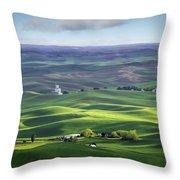 Distant Vista From Steptoe Butte Throw Pillow