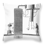 Distillation, 19th Century Throw Pillow