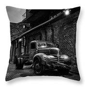 Distillery District Toronto Mono Throw Pillow