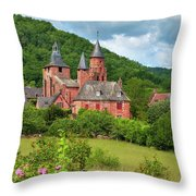 Distinctive Red Sandstone Buildings Throw Pillow