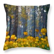 Distorted Dreams By Day Throw Pillow