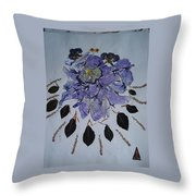 Distorted Flower-dream Throw Pillow