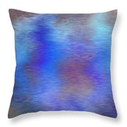 Distorted Waters Throw Pillow