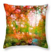 Distortions Of Autumn Throw Pillow