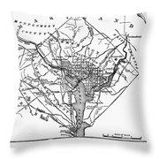 District Of Columbia, 1801 Throw Pillow