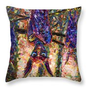 Disturbed Throw Pillow by James W Johnson