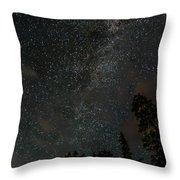 Disturbing The Milky Way Throw Pillow
