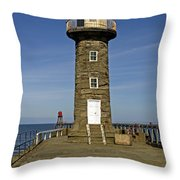 Disused East Pier Lighthouse - Whitby Throw Pillow