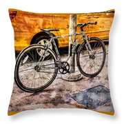 Ditchin' The Taxi To Ride Throw Pillow