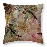 Rustic Dragonflies Pinks Throw Pillow