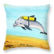 Dive Buddy Throw Pillow