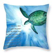 Dive Deep Throw Pillow by Michal Madison
