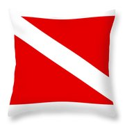 Diver Flag Throw Pillow