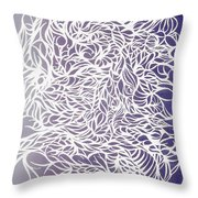 Divergant Purple Throw Pillow