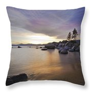 Divers Cove At Sand Harbor Throw Pillow