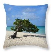 Divi Divi Tree Throw Pillow