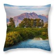 Divide Creek Morning Throw Pillow