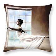 Divine Grace Throw Pillow by Richard Young
