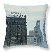 Divine Lorraine And City Hall - Philadelphia Throw Pillow