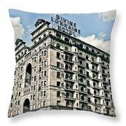 Divine Lorraine Hotel Throw Pillow
