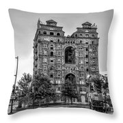 Divine Lorraine In Pain - Black And White Throw Pillow