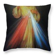 Divine Mercy Jesus Throw Pillow