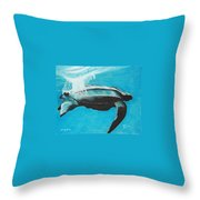 Diving Deep Throw Pillow