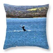 Diving II Throw Pillow